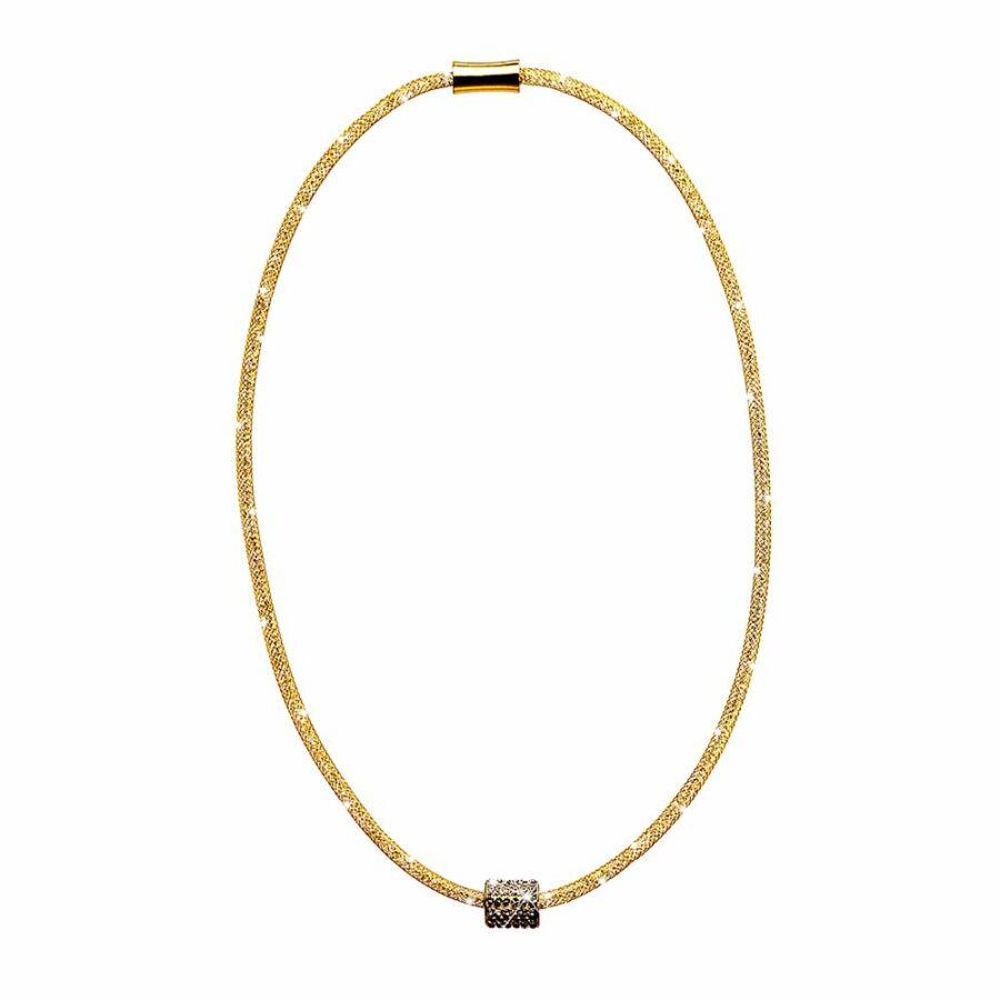 SD12NY-AR Stardust by Cango & Rinaldi arany színű, henger medálos nyaklánc