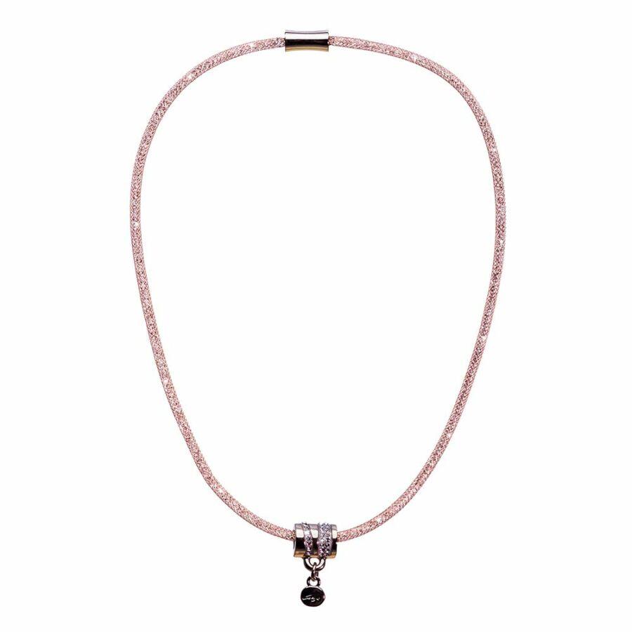 SD22NY-RO Stardust by Cango & Rinaldi rozéarany színű, hordó medálos nyaklánc