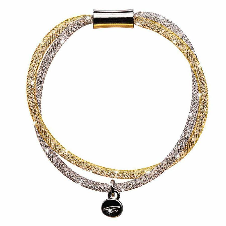 SD2K-NI-AR Stardust by Cango & Rinaldi ezüst-arany színű karkötő
