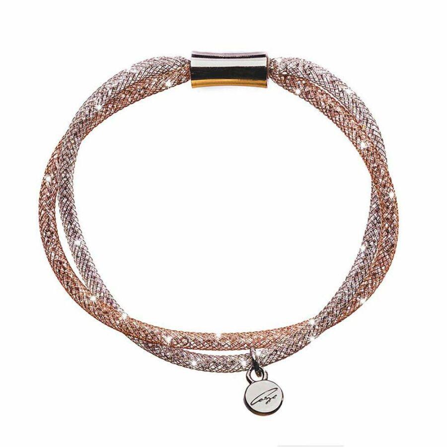 SD2K-NI-RO Stardust by Cango & Rinaldi ezüst-rozé színű karkötő