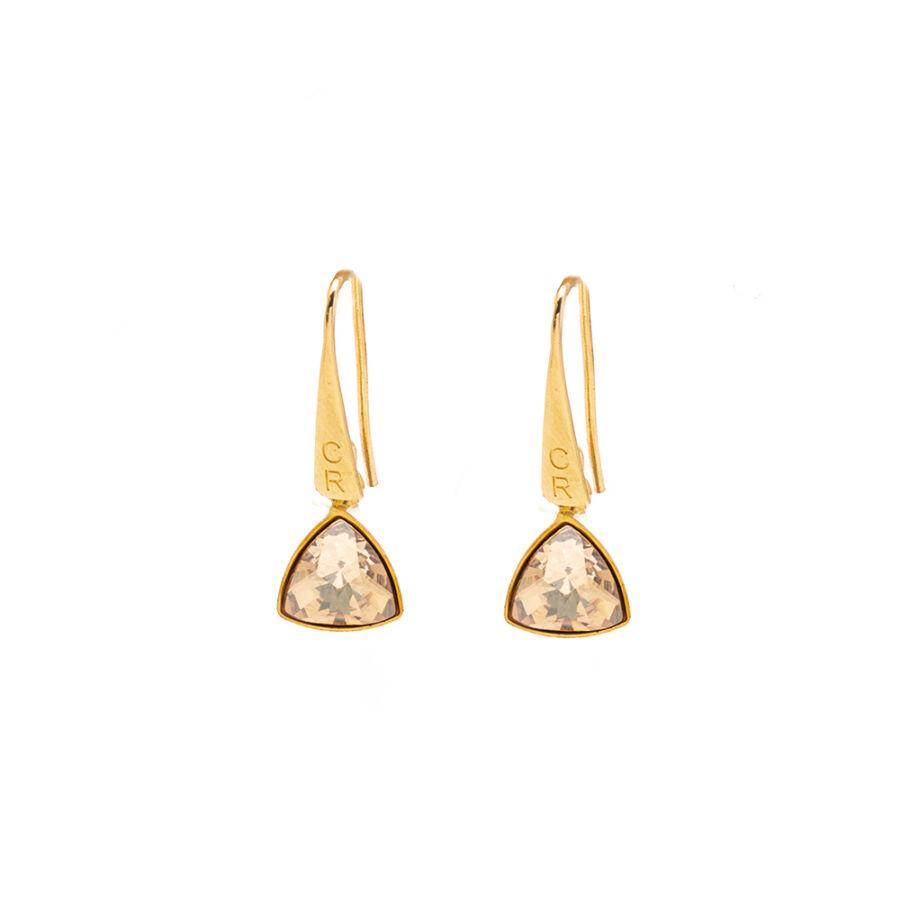 Triangle Golden kis fülbevaló