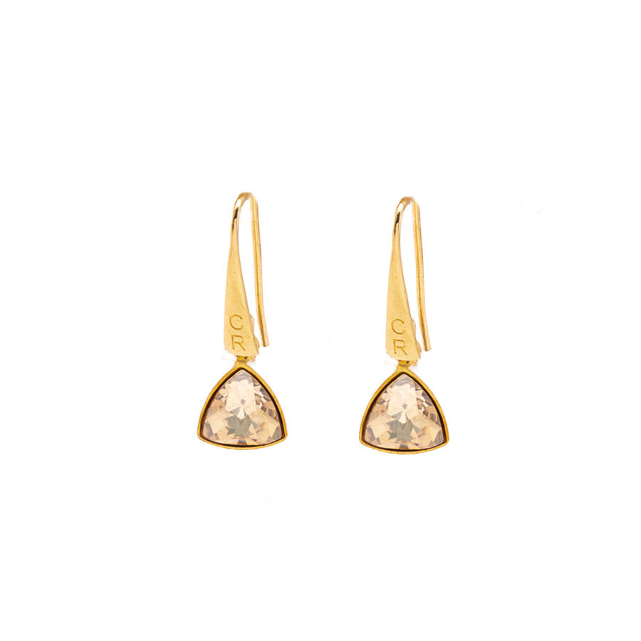 Cango & Rinaldi Triangle arany szín kis fülbevaló arany színű beakasztóval