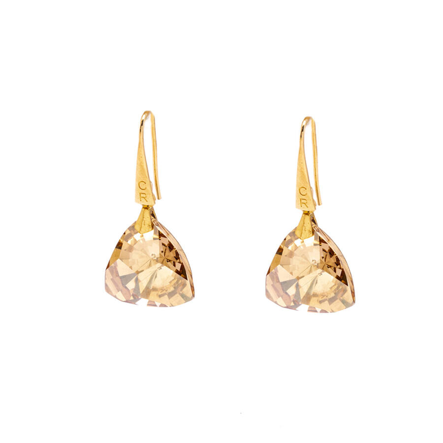 Cango & Rinaldi Triangle arany szín közepes fülbevaló ezüst színű beakasztóval