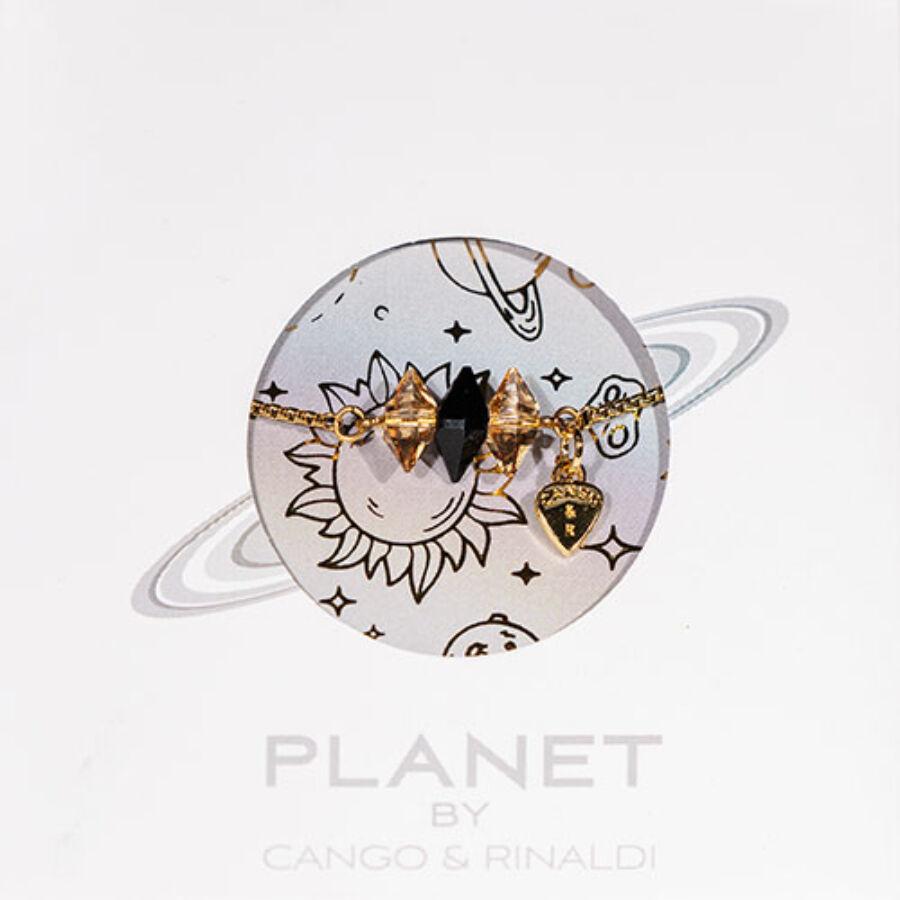 Cango & Rinaldi PLANET arany színű fülbevaló AB kővel