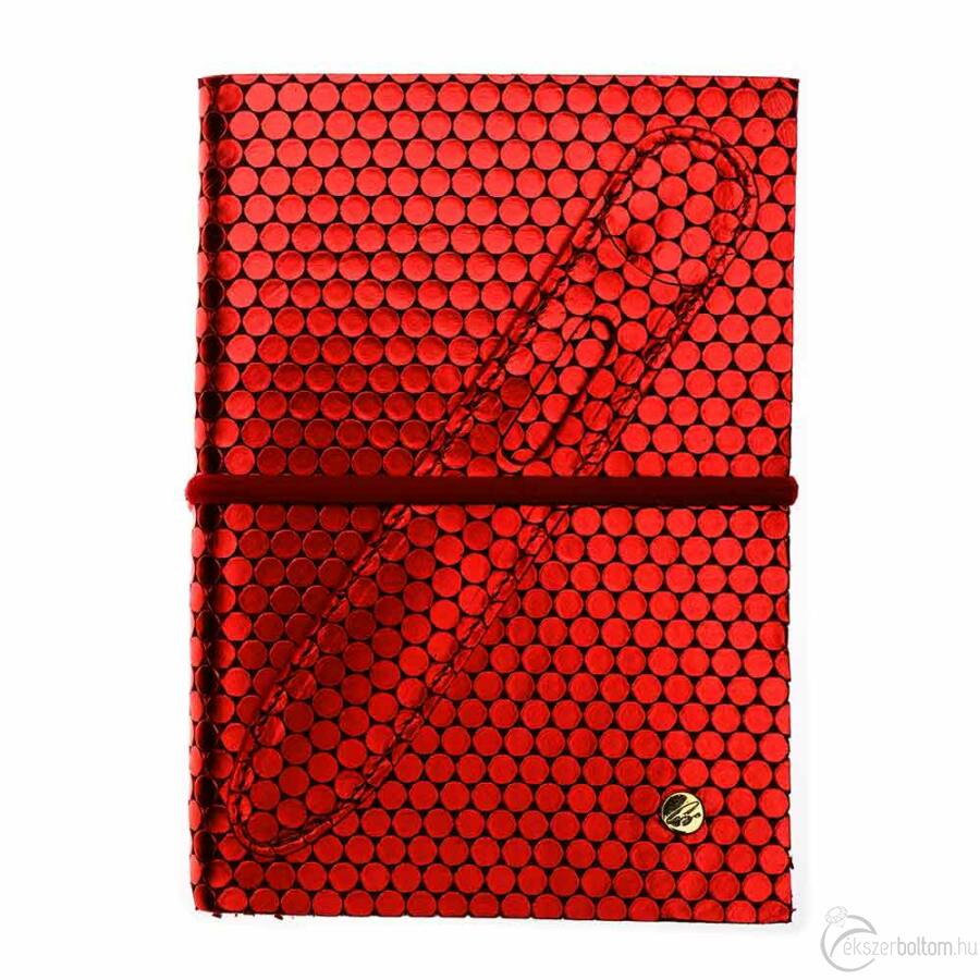 Cango & Rinaldi piros nyomott lakkbőr kötésű öröknaptár