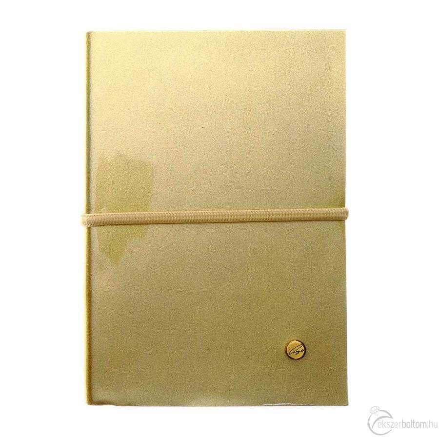 Cango & Rinaldi arany lakkbőr kötésű jegyzetfüzet