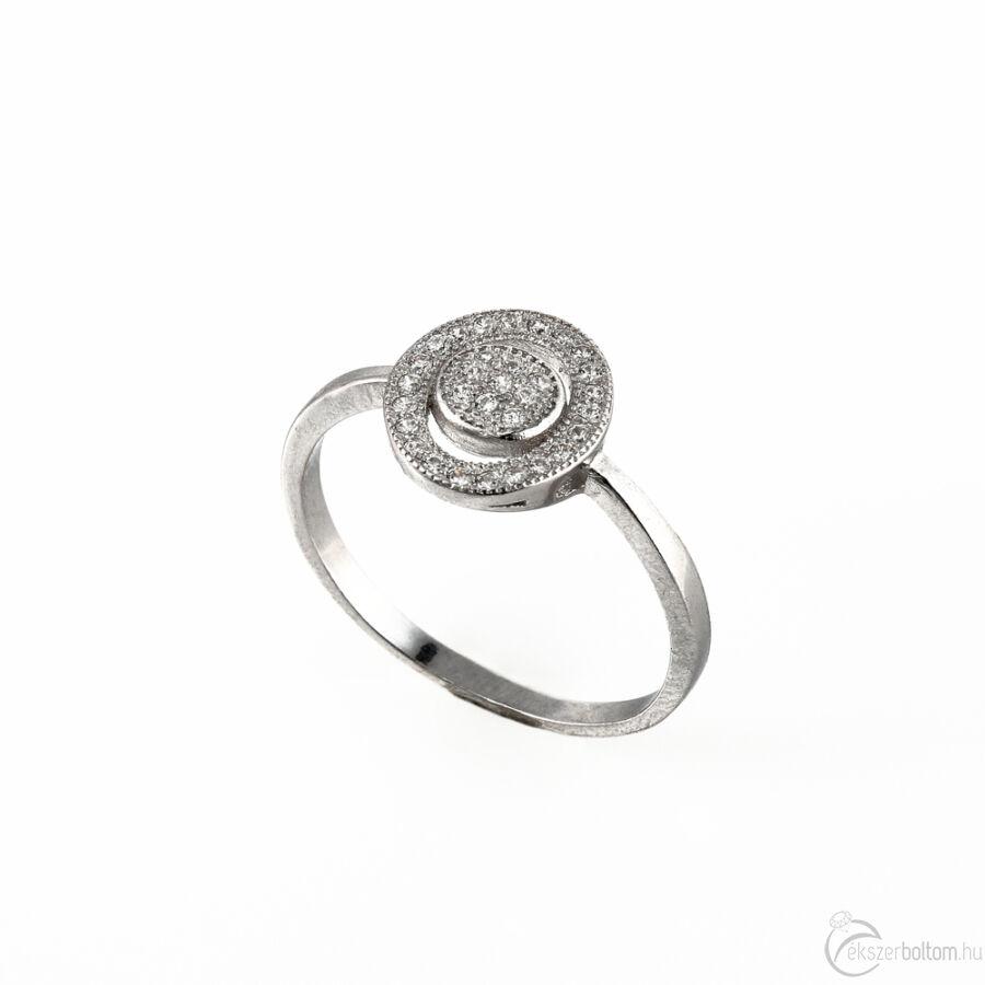 Körkörös mintás szoliter ezüst gyűrű