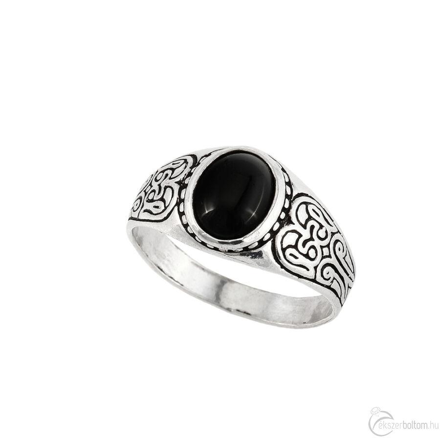 """""""Black Moon"""" (""""Fekete Hold"""") ezüst gyűrű"""
