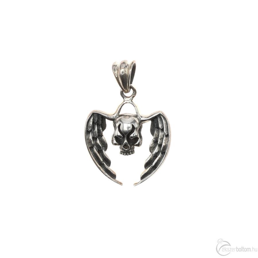 A Halál Géniusza antikolt ezüst medál