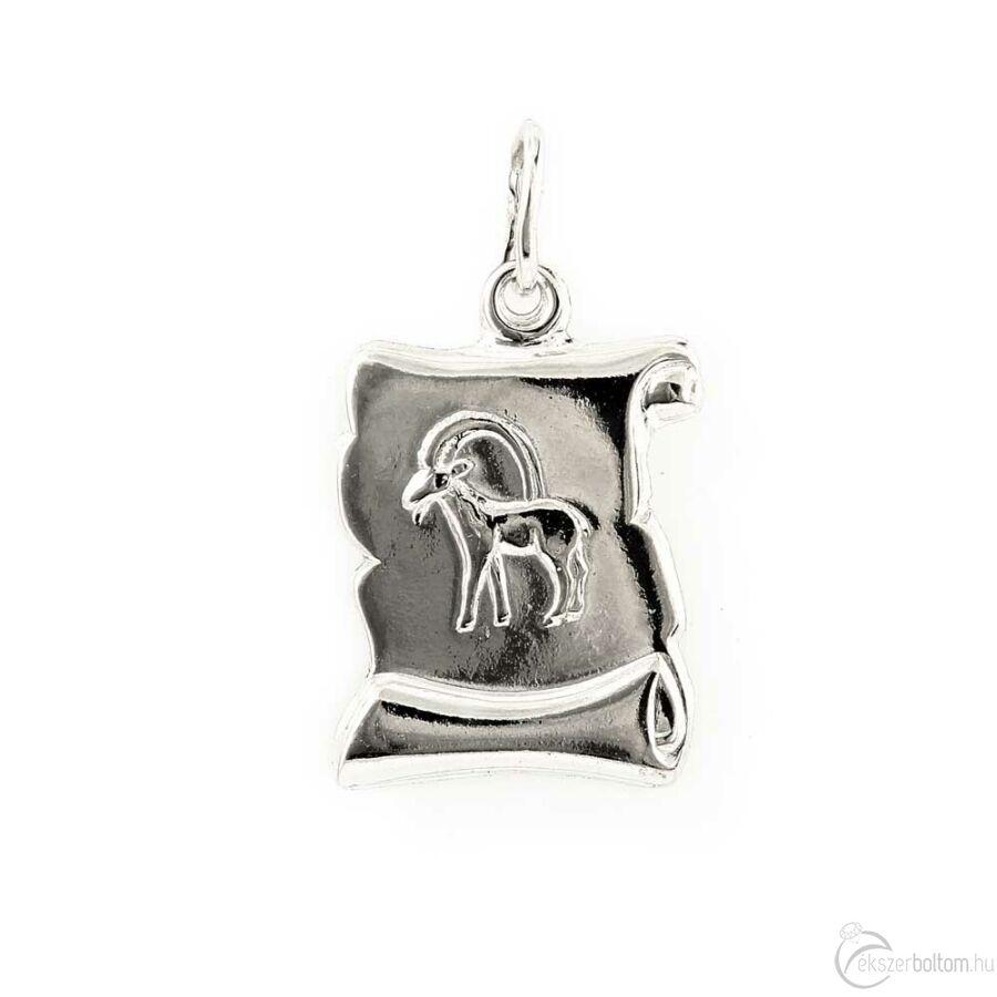 """""""Capricorn"""" (Bak) ezüst pergamen lapmedál"""