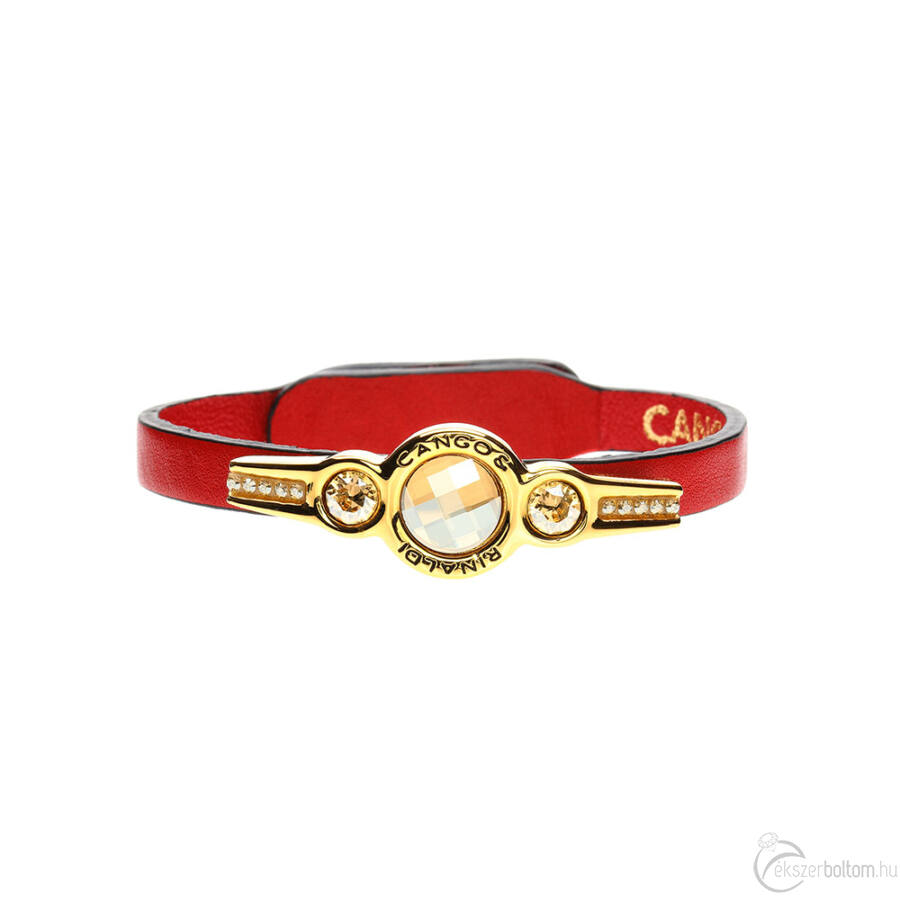 Cango & Rinaldi Magic piros karkötő arany fémmel és kristályokkal