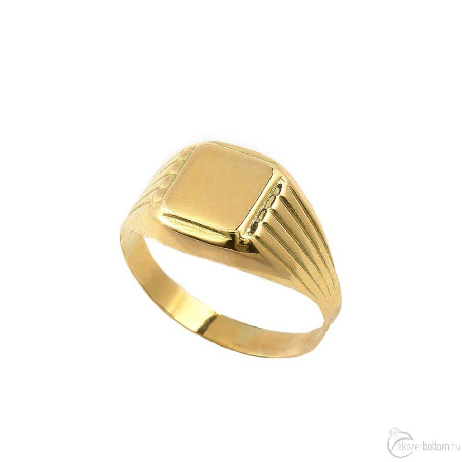 Arany férfi pecsétgyűrű 299