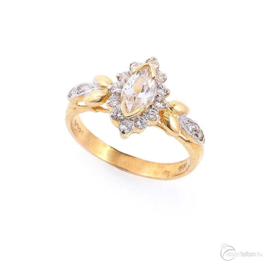 Monarch sárga arany női gyűrű