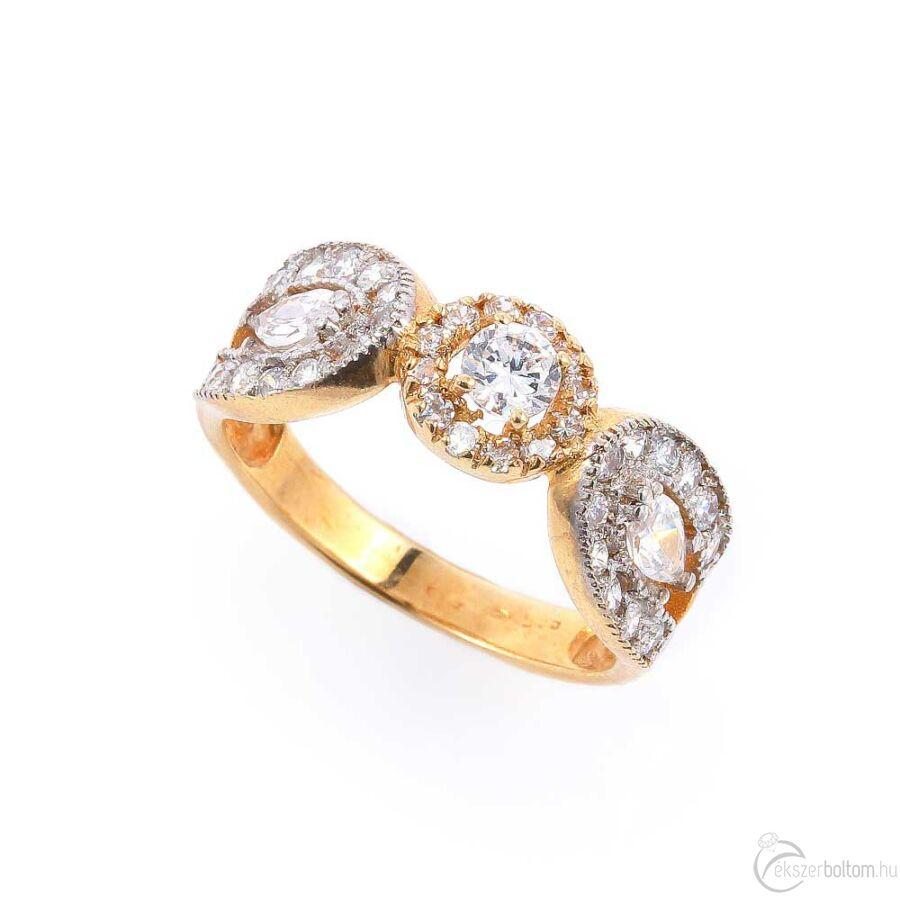 Mariazell sárga arany női gyűrű