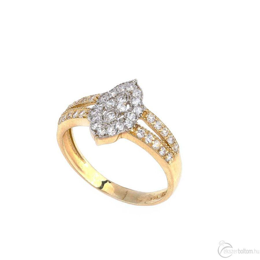 Navona sárga arany köves női gyűrű