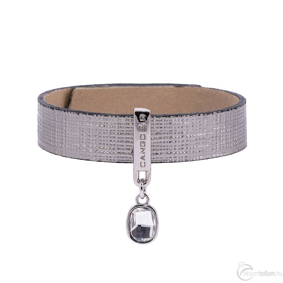 Cango & Rinaldi Magic óezüst karkötő nikkel színű díszítéssel, fehér kristállyal