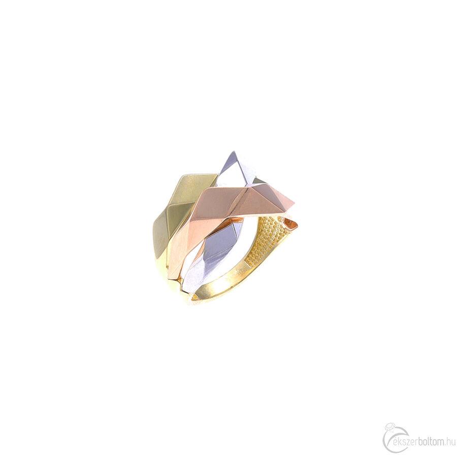 """""""WDC Hall LA"""" háromszínű arany gyűrű"""