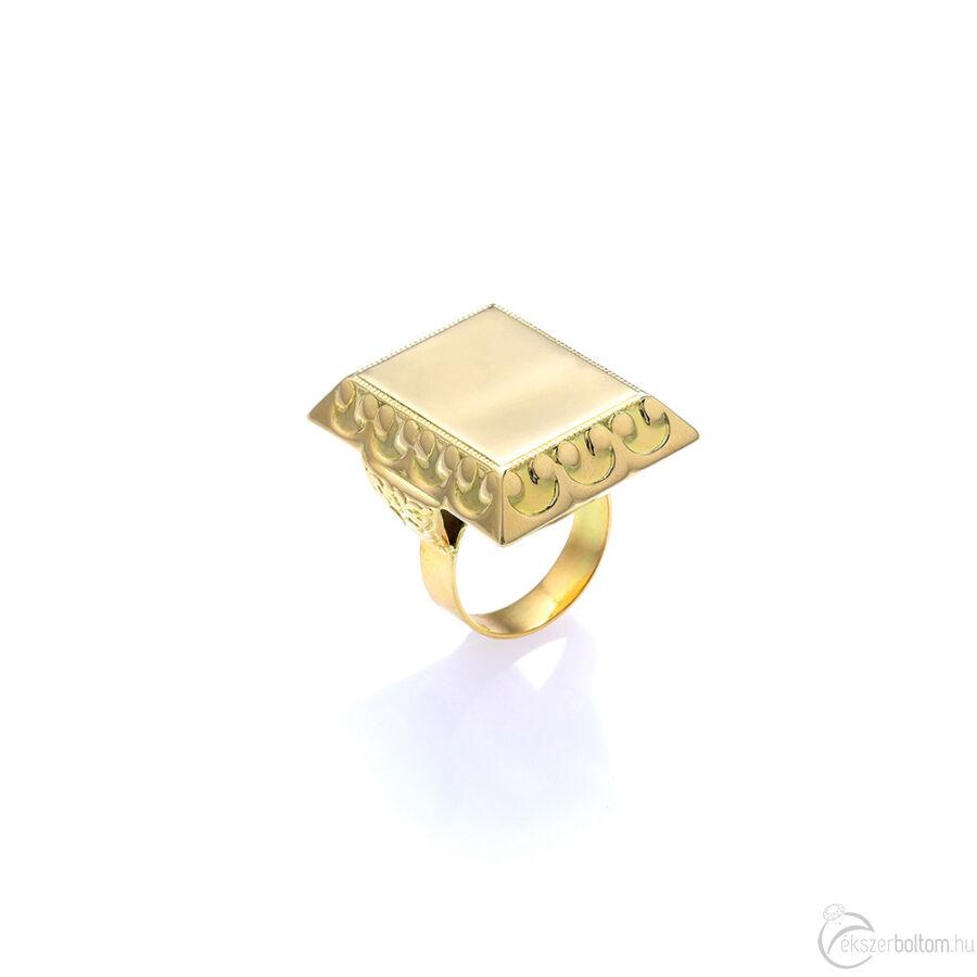 Tekintélyes férfi arany pecsétgyűrű
