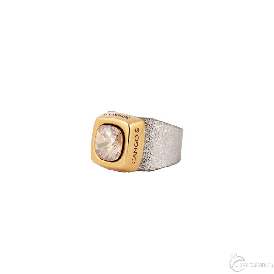 Cango & Rinaldi Cube óarany színű gyűrű arany színű kővel