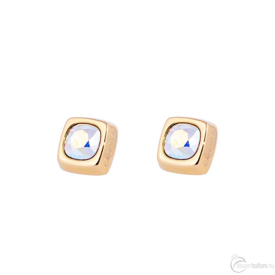 Cango & Rinaldi Cube arany színű fülbevaló AB kővel