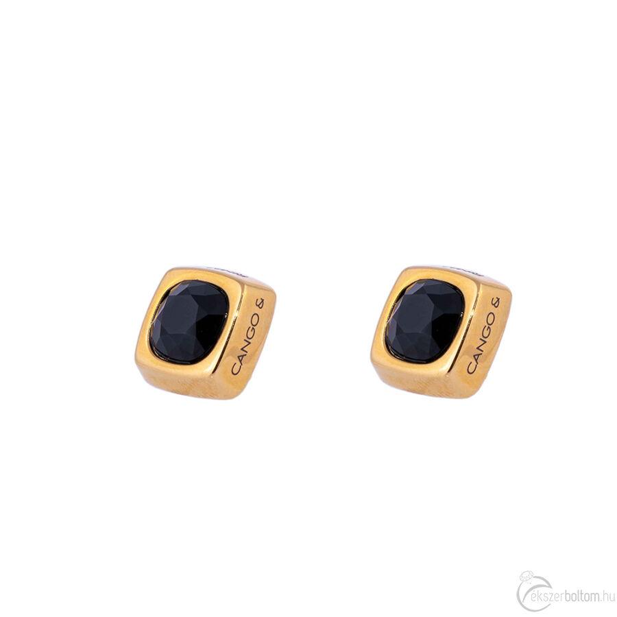 Cango & Rinaldi Cube arany színű fülbevaló BD kővel
