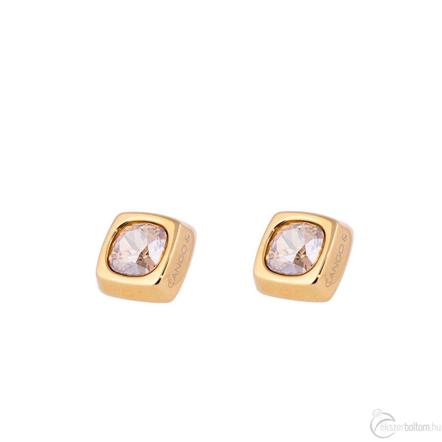 Cango & Rinaldi Cube arany színű fülbevaló arany kővel