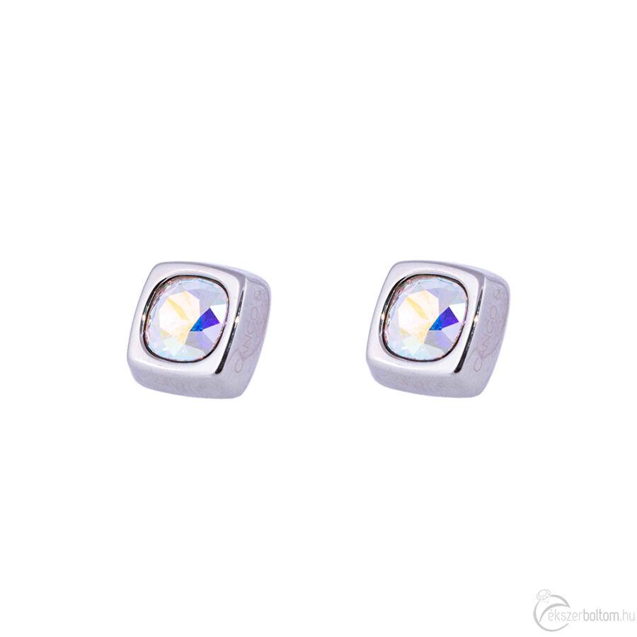 Cango & Rinaldi Cube ezüst színű fülbevaló AB kővel