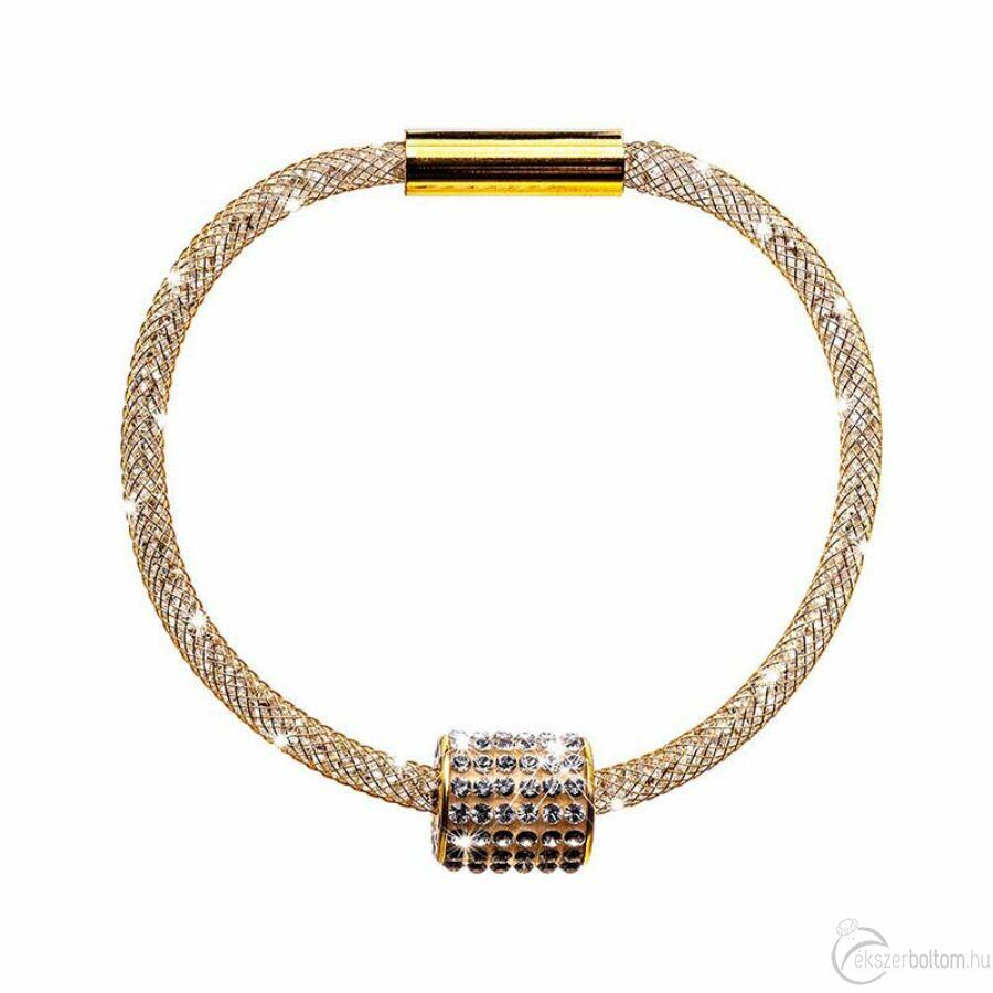 SD12K-AR Stardust by Cango & Rinaldi arany színű, henger medálos karkötő