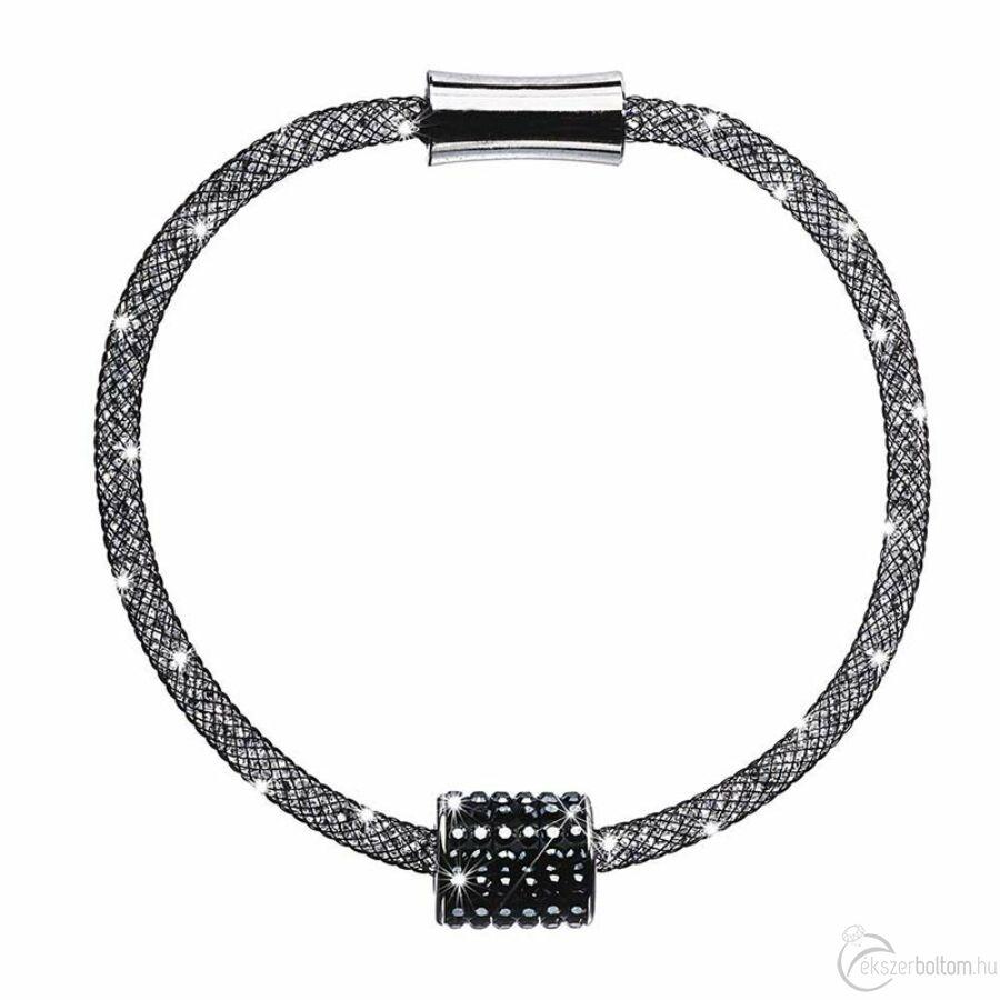 SD12K-BK Stardust by Cango & Rinaldi fekete színű, henger medálos karkötő
