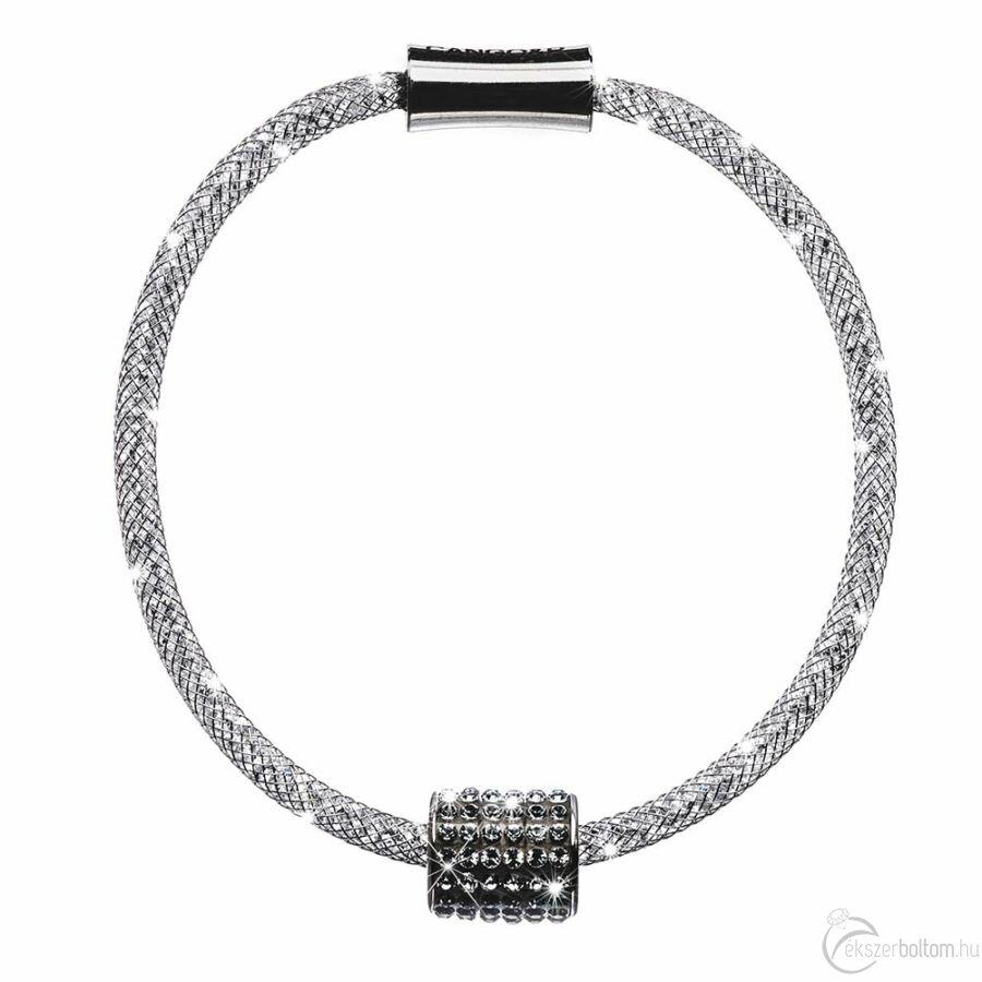 SD12K-NI Stardust by Cango & Rinaldi ezüst színű, henger medálos karkötő