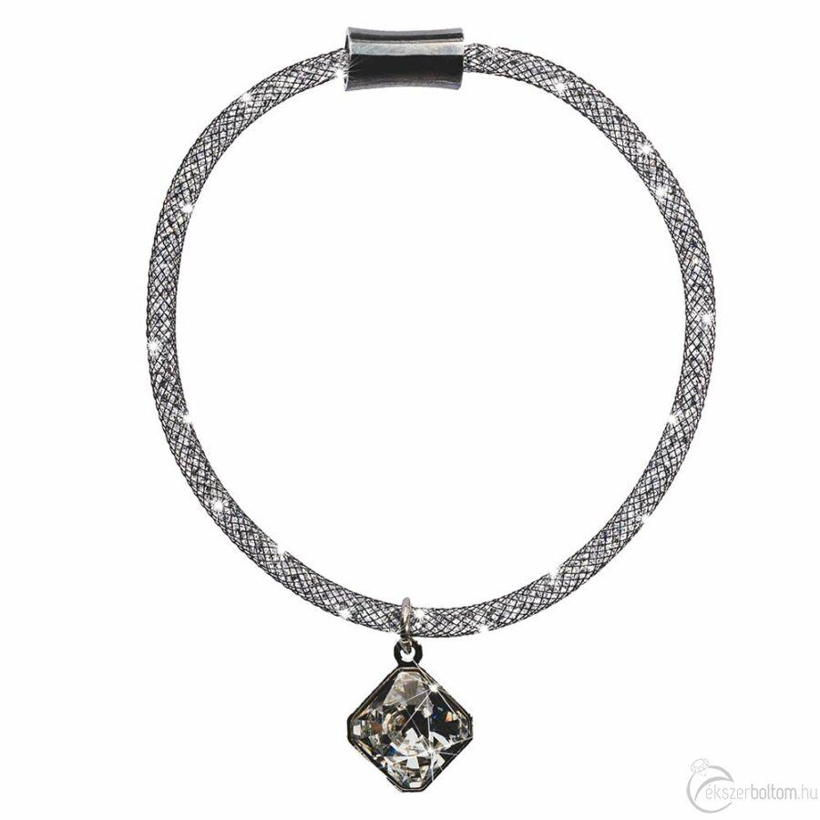 SD13K-BK Stardust by Cango & Rinaldi fekete színű, kristálymedálos karkötő