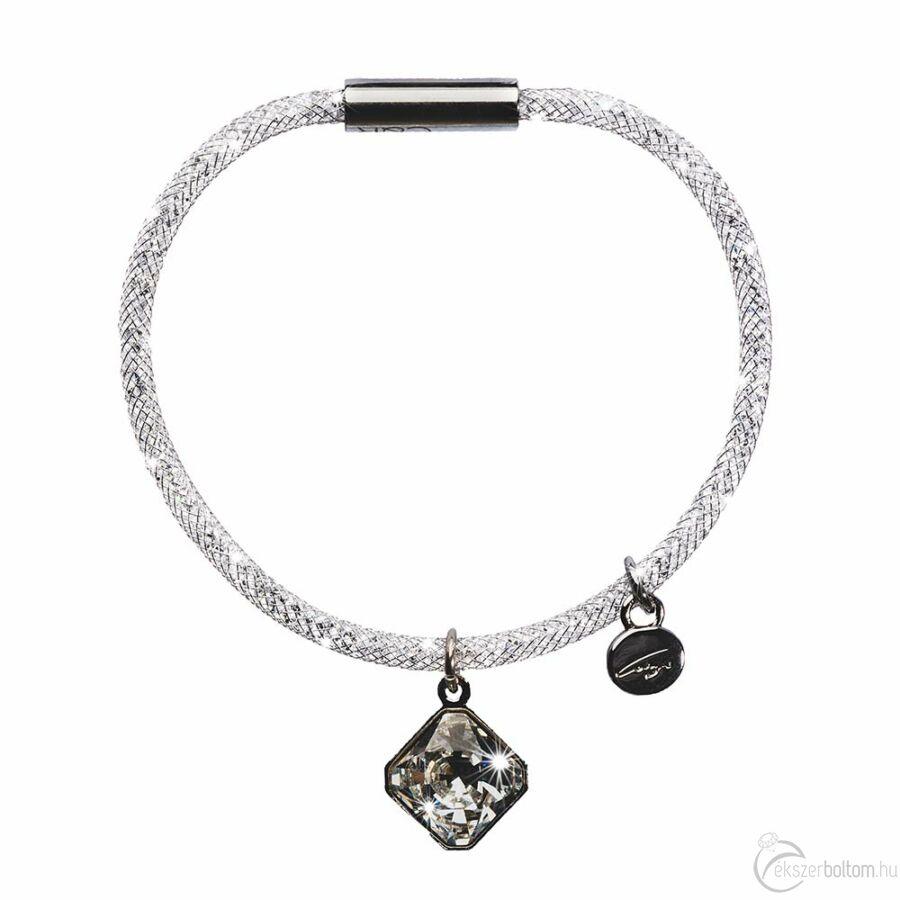 SD13K-NI Stardust by Cango & Rinaldi ezüst színű, kristálymedálos karkötő