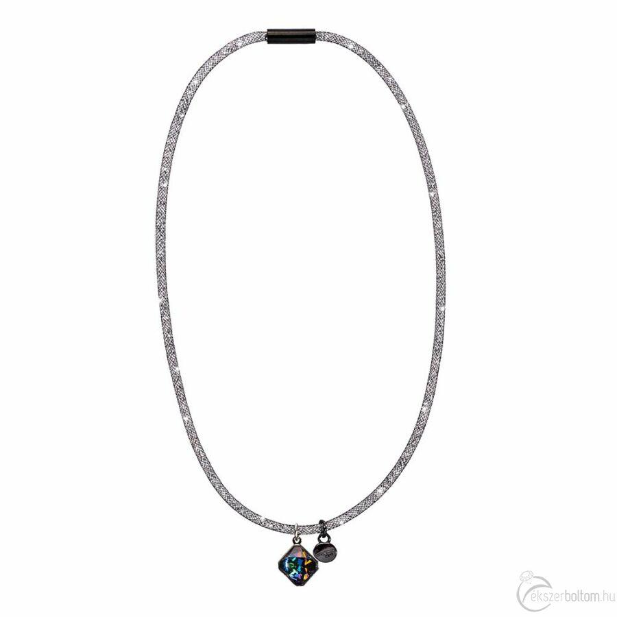 SD13NY-BK Stardust by Cango & Rinaldi fekete színű, kristálymedálos nyaklánc
